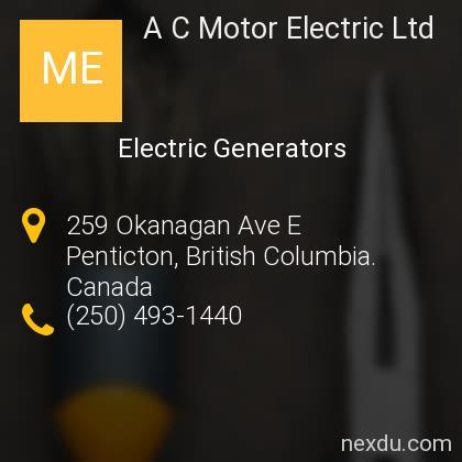 A C Motor Electric Ltd