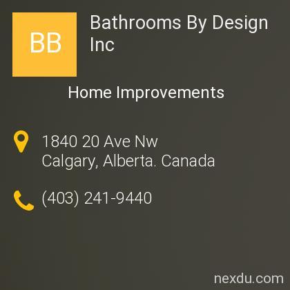 Bathrooms By Design Inc