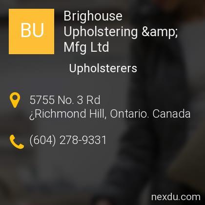 Brighouse Upholstering & Mfg Ltd