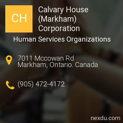 Calvary House (Markham) Corporation