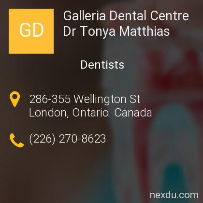 Galleria Dental Centre Dr Tonya Matthias