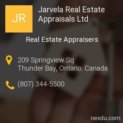 Jarvela Real Estate Appraisals Ltd