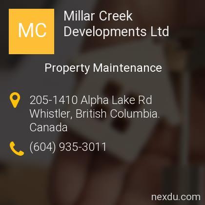 Millar Creek Developments Ltd