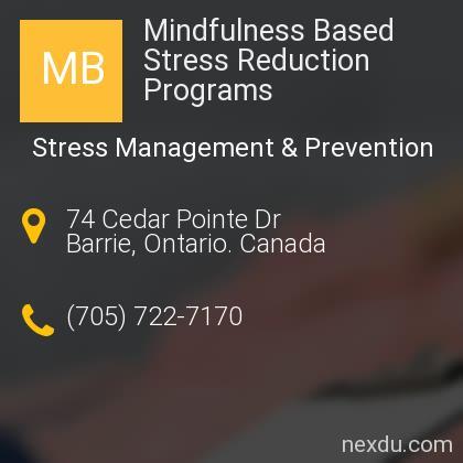 Mindfulness Based Stress Reduction Programs