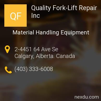 Quality Fork-Lift Repair Inc