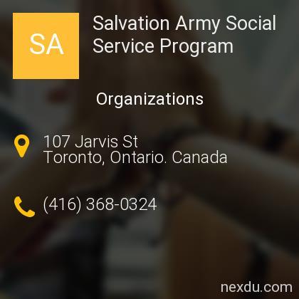 Salvation Army Social Service Program