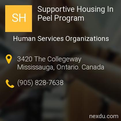 Supportive Housing In Peel Program