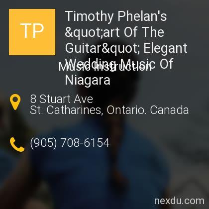 """Timothy Phelan's """"art Of The Guitar"""" Elegant Wedding Music Of Niagara"""