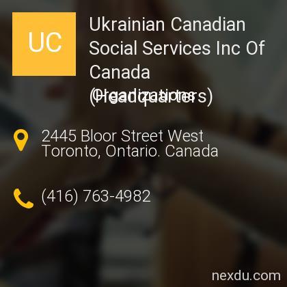 Ukrainian Canadian Social Services Inc Of Canada (Headquarters)