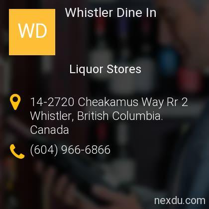 Whistler Dine In