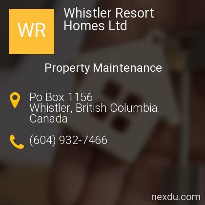 Whistler Resort Homes Ltd