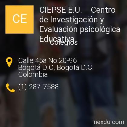 CIEPSE E.U.    Centro de Investigación y Evaluación psicológica Educativa