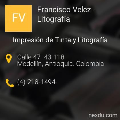 Francisco Velez - Litografía