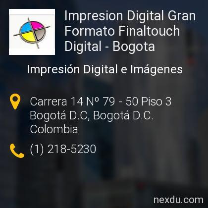 Impresion Digital Gran Formato Finaltouch Digital - Bogota