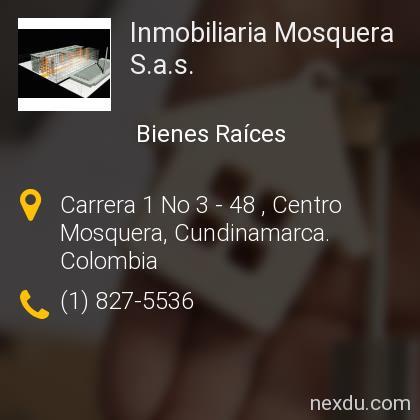 Inmobiliaria Mosquera S.a.s.