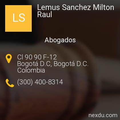 Lemus Sanchez Milton Raul