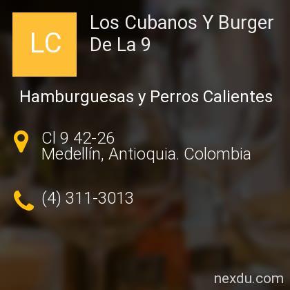 Los Cubanos Y Burger De La 9