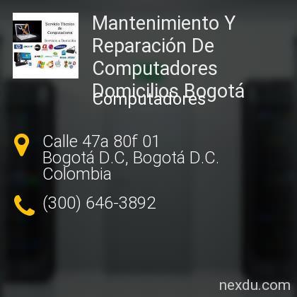 Mantenimiento Y Reparación De Computadores Domicilios Bogotá