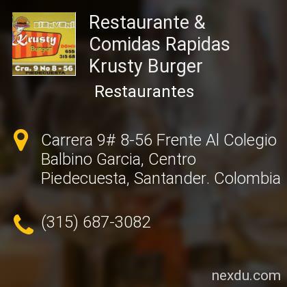 Restaurante & Comidas Rapidas Krusty Burger
