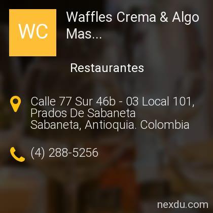Waffles Crema & Algo Mas...
