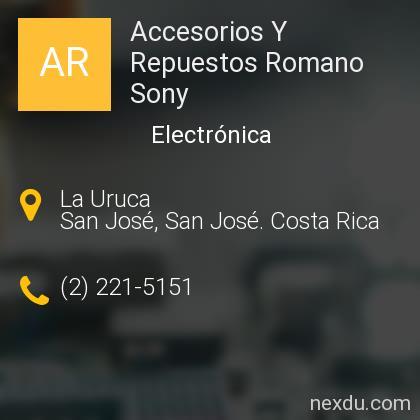 Accesorios Y Repuestos Romano Sony