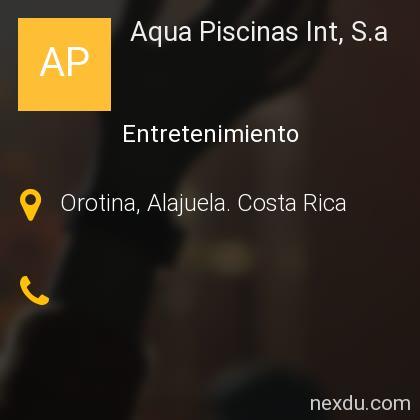Aqua Piscinas Int, S.a