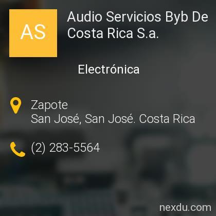 Audio Servicios Byb De Costa Rica S.a.