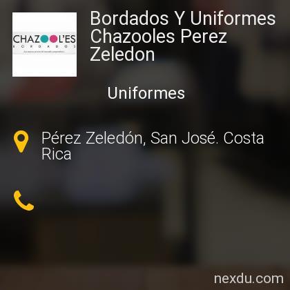 Bordados Y Uniformes Chazooles Perez Zeledon