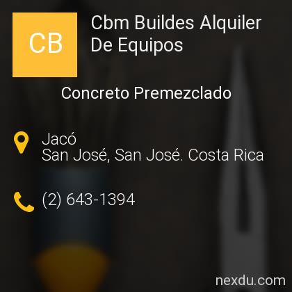 Cbm Buildes Alquiler De Equipos