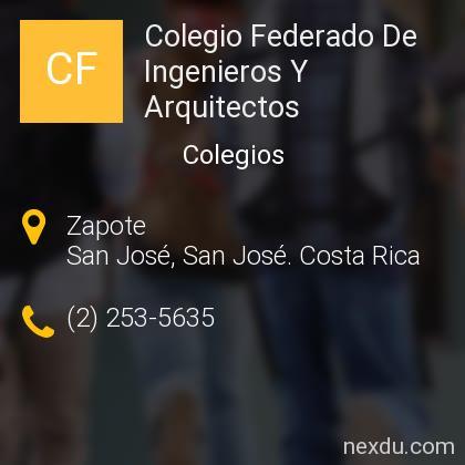 Colegio Federado De Ingenieros Y Arquitectos