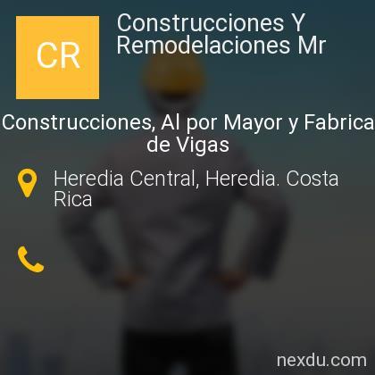 Construcciones Y Remodelaciones Mr