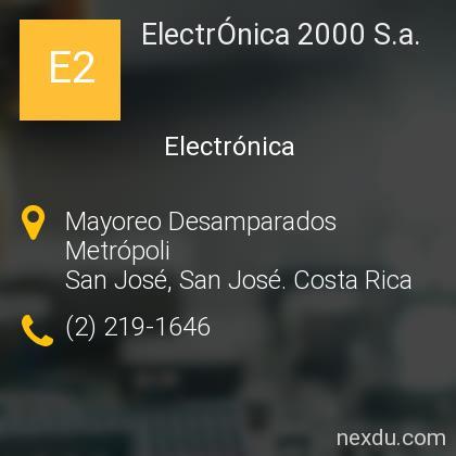 ElectrÓnica 2000 S.a.