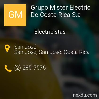 Grupo Mister Electric De Costa Rica S.a