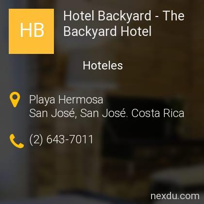 Hotel Backyard - The Backyard Hotel