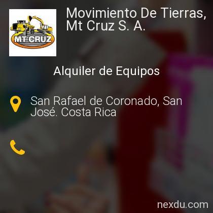 Movimiento De Tierras, Mt Cruz S. A.