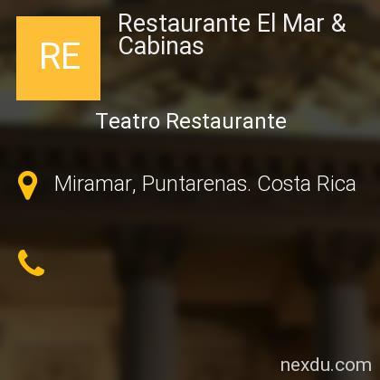 Restaurante El Mar & Cabinas