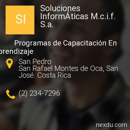 Soluciones InformÁticas M.c.i.f. S.a.