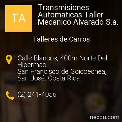 Transmisiones Automaticas Taller Mecanico Alvarado S.a.
