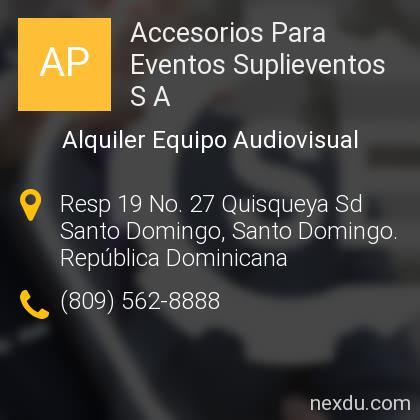 Accesorios Para Eventos Suplieventos S A
