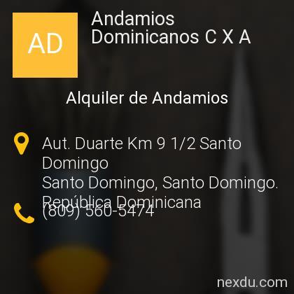 Andamios Dominicanos C X A