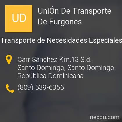UniÓn De Transporte De Furgones