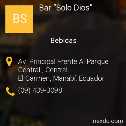 """Bar """"Solo Dios"""""""