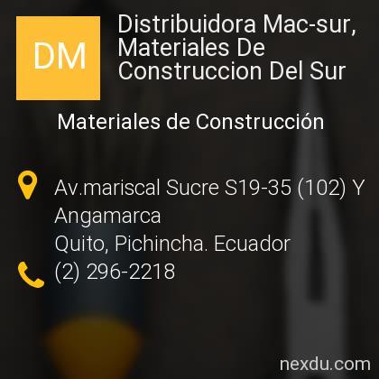 Distribuidora Mac-sur, Materiales De Construccion Del Sur