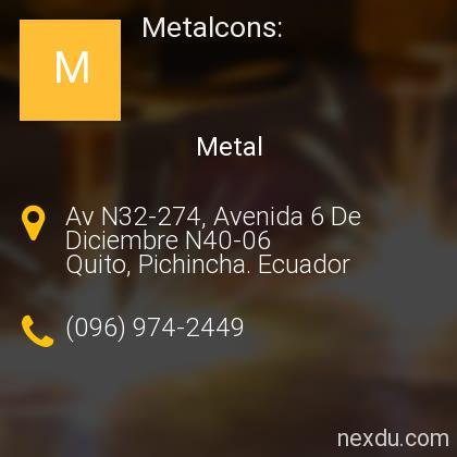 Metalcons: