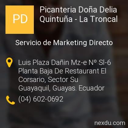 Picanteria Doña Delia Quintuña - La Troncal