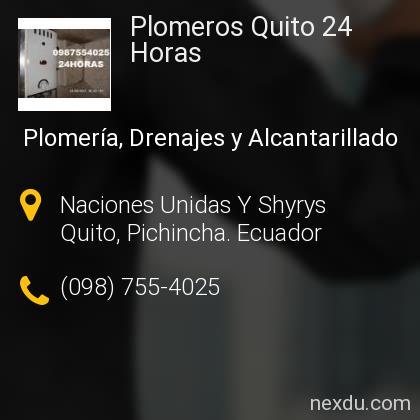 Plomeros Quito 24 Horas