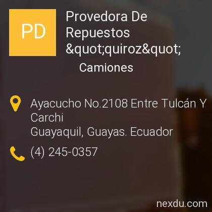 "Provedora De Repuestos ""quiroz"""