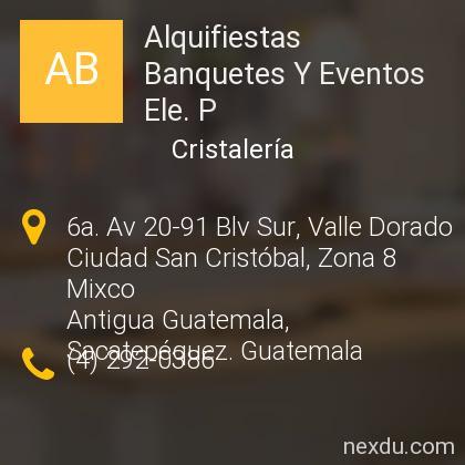 Alquifiestas Banquetes Y Eventos Ele. P