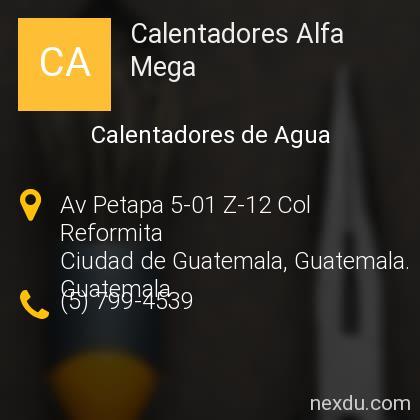 Calentadores Alfa Mega