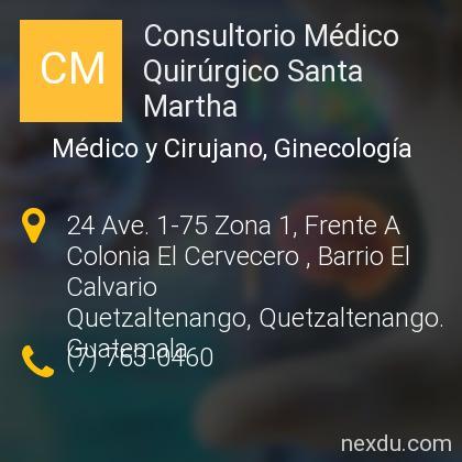 Consultorio Médico Quirúrgico Santa Martha